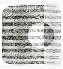 Hand drawing ink square pattern Poster