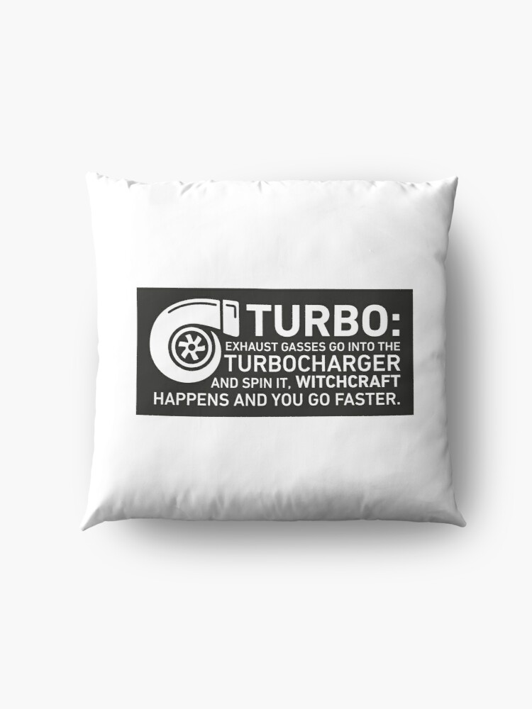 Alternate view of Turbo Witchcraft - Jeremy Clarkson Floor Pillow
