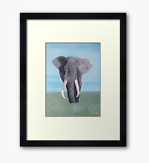 Plains Elephant  Framed Print