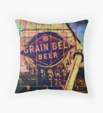 Grain Belt Beer Art Throw Pillow