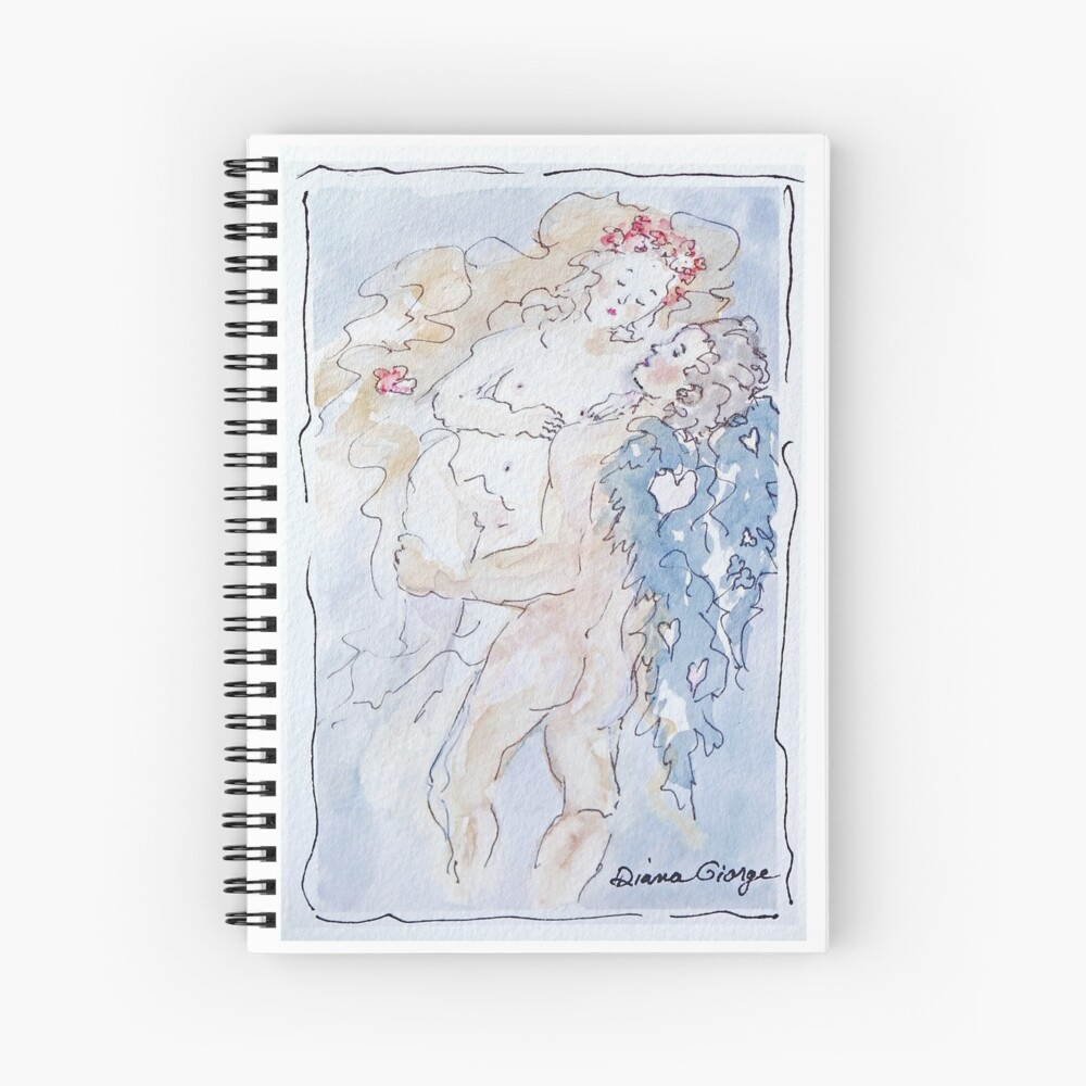 Angel of Love Spiral Notebook
