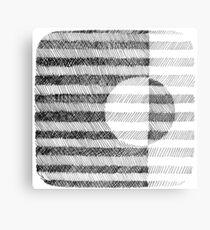 Hand drawn black and white Ink Pattern Metal Print