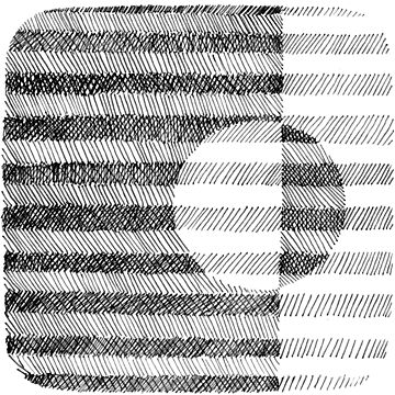 Hand drawn black and white Ink Pattern by irishguydesign