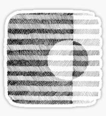 Hand drawn black and white Ink Pattern Sticker