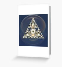 Triangle Of Silver Beauty Greeting Card