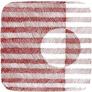 Red Ink Square Circle Design by irishguydesign