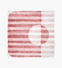 Red Ink Square Circle Design Scarf