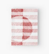 Red Ink Square Circle Design Hardcover Journal