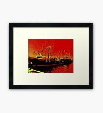 Fishing Boats, Point Judith, RI, USA Framed Print