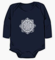White Mural Mandala - Art&Deco By Natasha One Piece - Long Sleeve