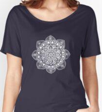 White Mural Mandala - Art&Deco By Natasha Women's Relaxed Fit T-Shirt