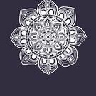 White Mural Mandala - Art&Deco By Natasha by ArtDecoNatasha