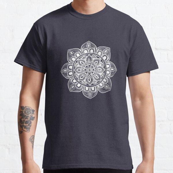 White Mural Mandala - Art&Deco By Natasha Classic T-Shirt