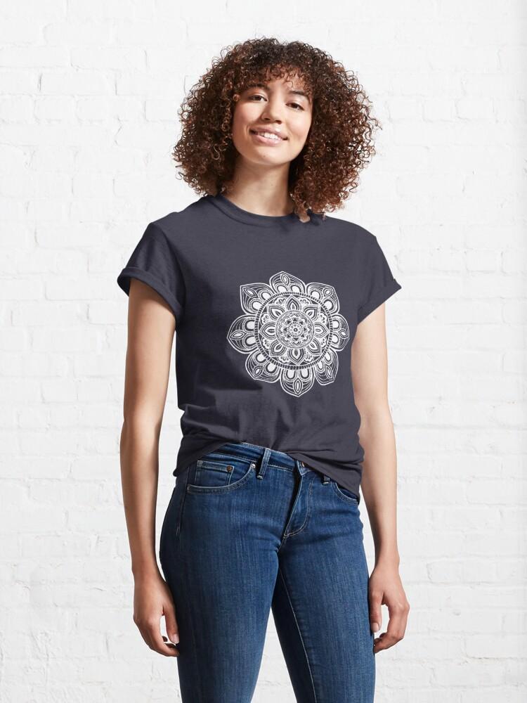 Alternate view of White Mural Mandala - Art&Deco By Natasha Classic T-Shirt