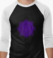 Blue Mural Mandala - Art&Deco By Natasha Men's Baseball ¾ T-Shirt