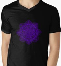 Blue Mural Mandala - Art&Deco By Natasha Men's V-Neck T-Shirt