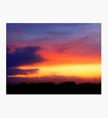 August Sunset, Point Judith, RI, USA (2) Photographic Print
