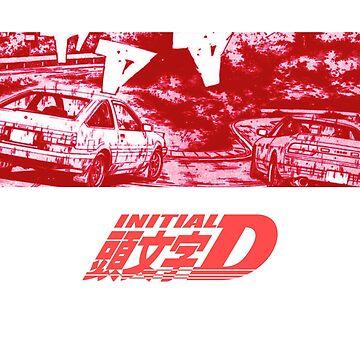 Initial D Red Turn Big Version by vertei