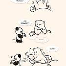 Tea-sing by Panda And Polar Bear