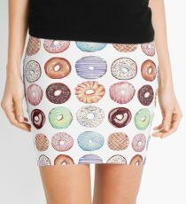 Hipster Donut Tiled Design Mini Skirt