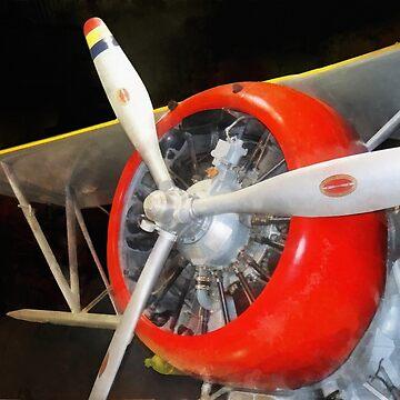 Airplane - F3F-2 Biplane by SudaP0408
