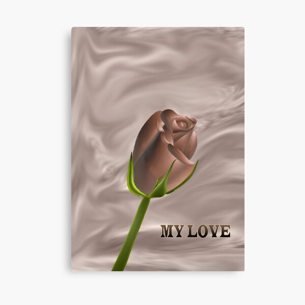 A chocolate rose for you my love....... Canvas Print