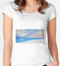 Cottesloe Dreaming Women's Fitted Scoop T-Shirt