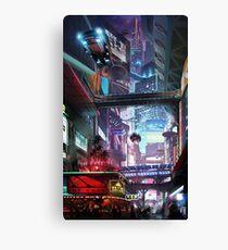 Cyberpunk City Canvas Print
