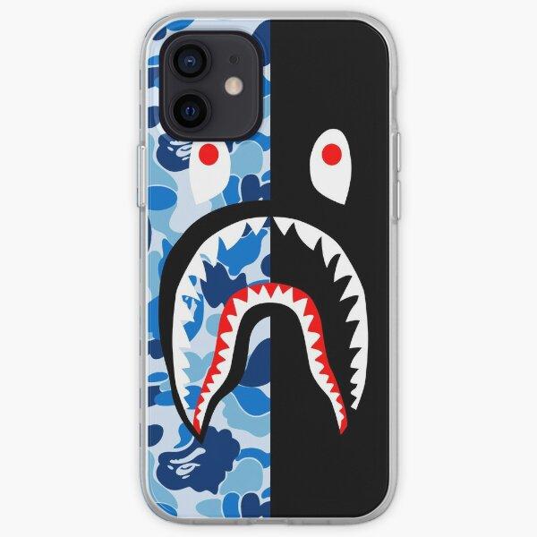bleu noir noir Coque souple iPhone
