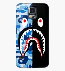 blue black blacky Case/Skin for Samsung Galaxy