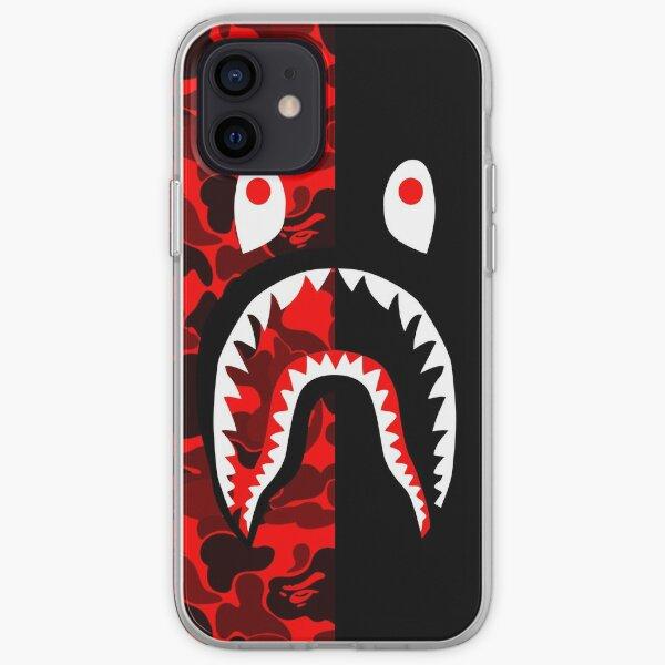 grapic negro rojo Funda blanda para iPhone