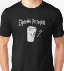 ESPRESSO PATRONUM WIZARD'S COFFEE DISTRESSED VINTAGE Slim Fit T-Shirt