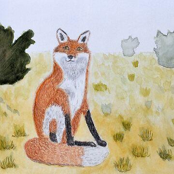 A Little Fox, Contemplating  by lisavonbiela