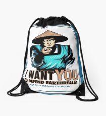 I Want YOU For Kombat Drawstring Bag