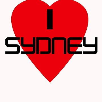 I Love Sydney Souvenir T-shirt by deanworld