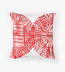 Red Ink Colors Throw Pillow