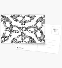 Irish Knot Hand Drawn Ink Pattern Postcards