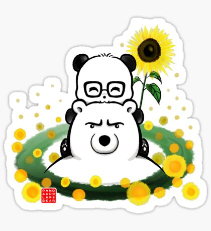 Bears and Sunflowers Sticker
