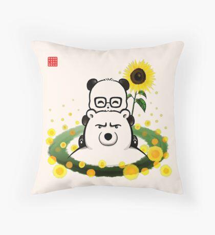 Bears and Sunflowers Floor Pillow