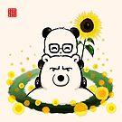 Bears and Sunflowers by Panda And Polar Bear