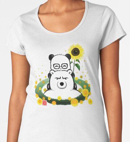 Bears and Sunflowers Premium Scoop T-Shirt