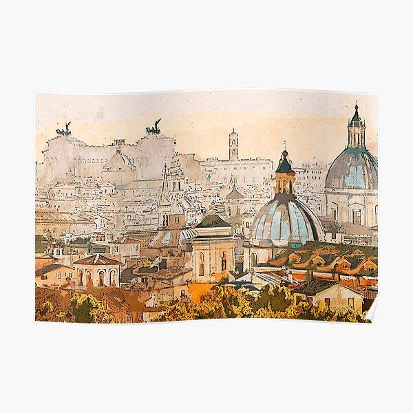 Rome Cityscape Poster