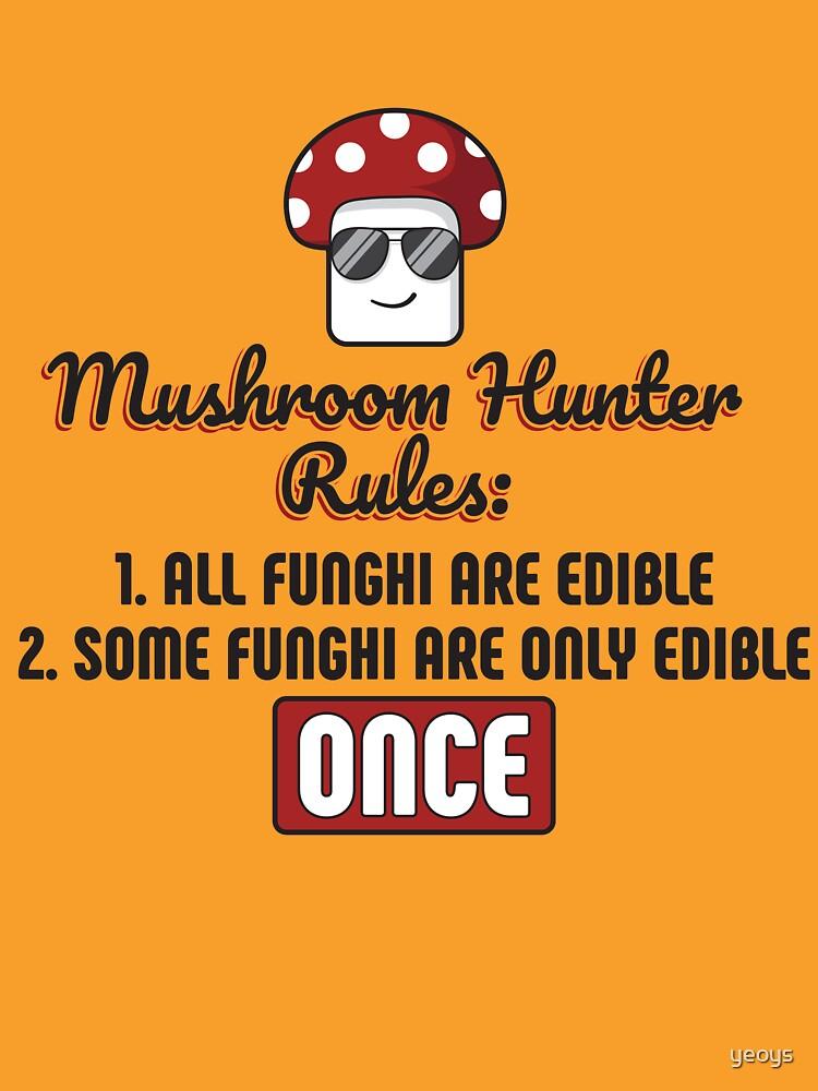 Mushroom Hunter Rules Edible Funghi - Funny Mushroom Pun Gift von yeoys