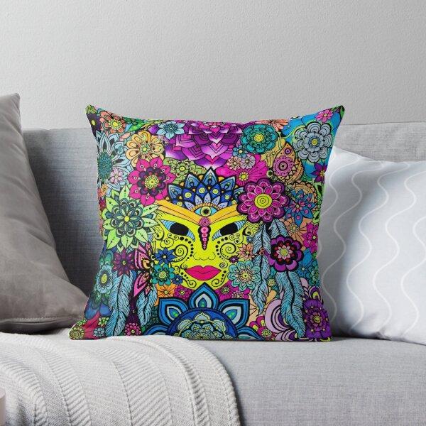 3 Chakras Drawing on Paper - Art&Deco By Natasha Throw Pillow