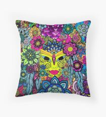 3 Chakras Drawing on Paper - Art&Deco By Natasha Throw Pillow