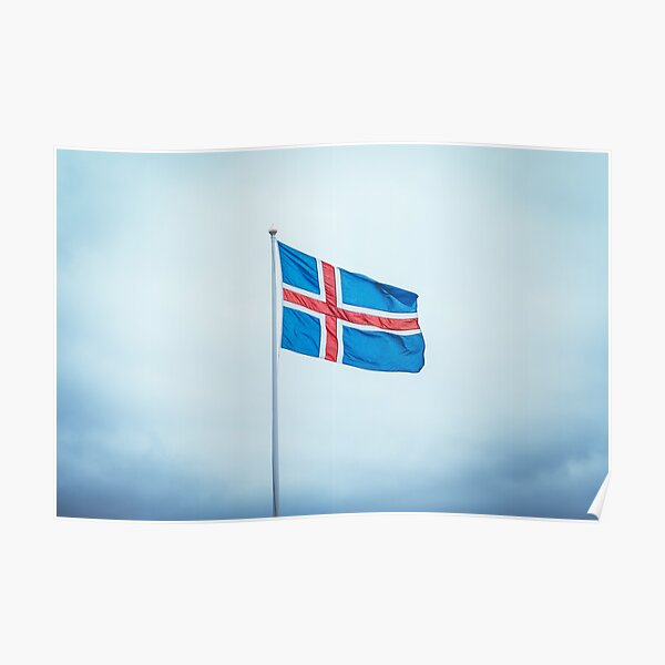 Iceland Flag / Island Flagge Poster