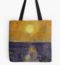Moonrise over Coligny original painting Tote Bag