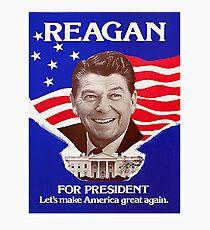 Reagan Bush '84 Retro Logo Red White Blue Election Ronald George 1984 84 Photographic Print