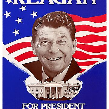Reagan Bush '84 Retro Logo Red White Blue Election Ronald George 1984 84 by arcadetoystore