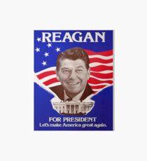 Reagan Bush '84 Retro Logo Red White Blue Election Ronald George 1984 84 Art Board